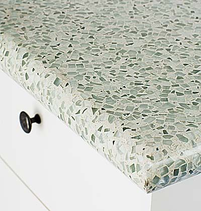 recycled glass countertops and other green alternatives - for my new ...