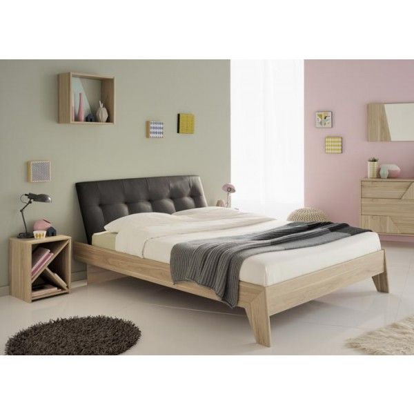 Parisot Swen Double Bed + Black Headboard