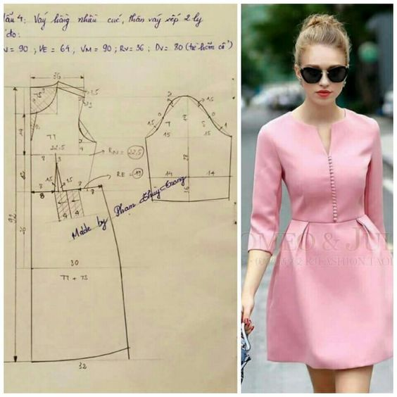 Stylish dress (pattern) / Simple patterns / SECOND STREET