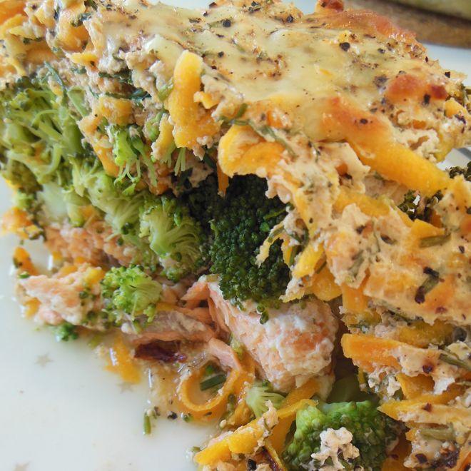 Virkelig lækker & nem fiske-ret. 4 laksefileter (ca. 400g) 5 ml. citronsaft 2 broccoli i små buketter 1 bdt. frisk dild (de små potter) 1 bdt. frisk purløg (de små potter) 400g skyr fra levevis...