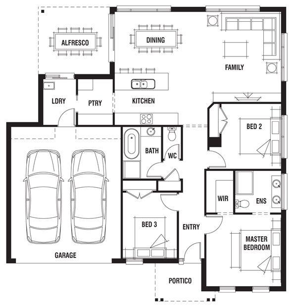 45 x 48 house design gatwick porter davis homes small for Porter davis home designs