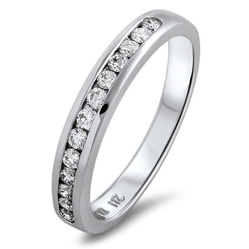 The Neville Jordan Romance Collection 18ct white gold 0.33tdw channel set diamond ring. Designed and made in New Zealand by Neville, exclusively for our store.