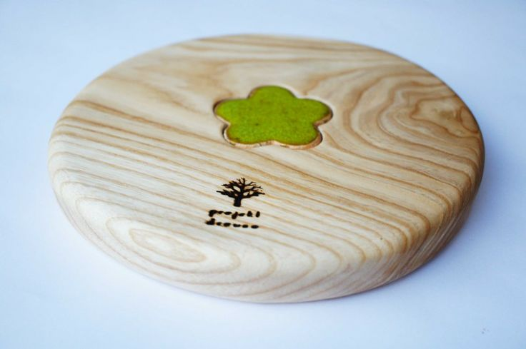 wooden cup pad by Projekt Drewno