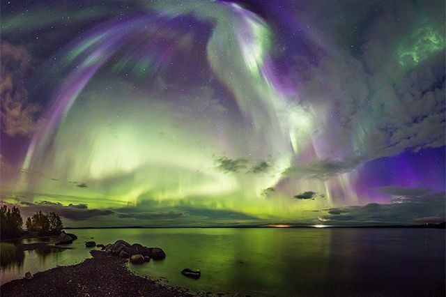 Extrem helles Polarlicht