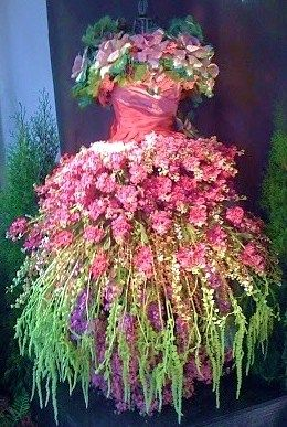 dress of blooms