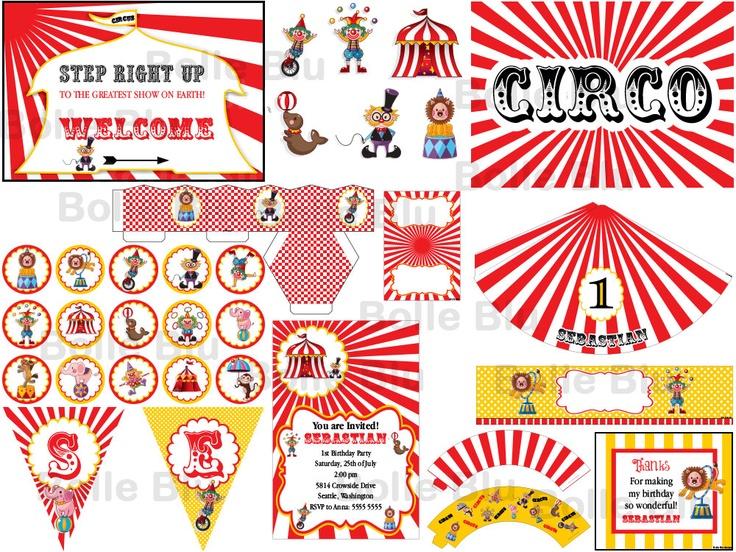 Kit per Festa Compleanno tema Circo