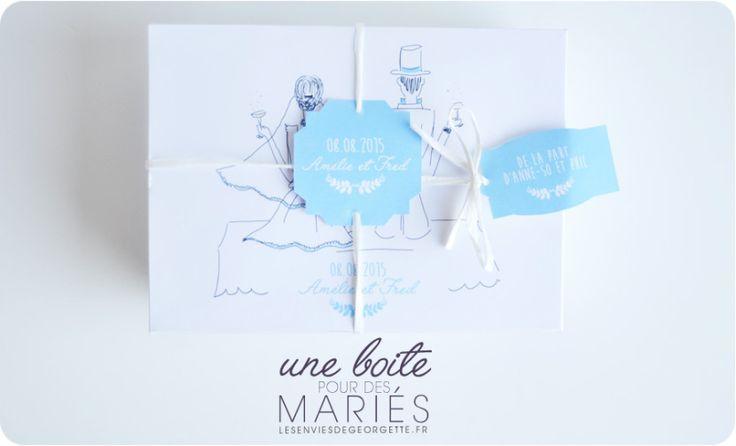 un cadeau original pour des mari s diy mariage. Black Bedroom Furniture Sets. Home Design Ideas