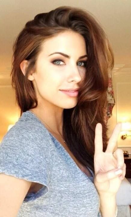 Katherine Webb Nice brown hair color