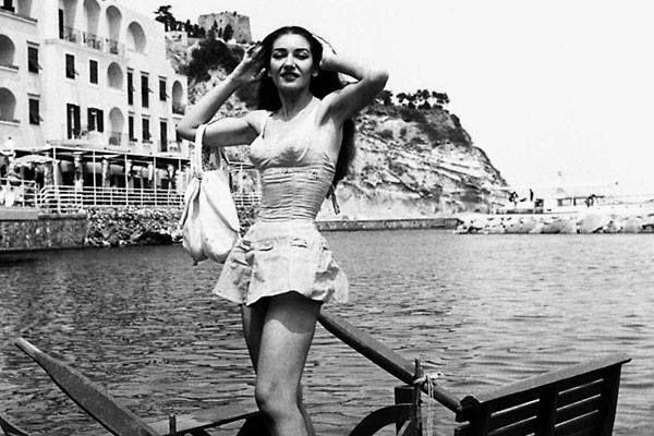 Ischia, 1957. The marvellous Maria Callas.