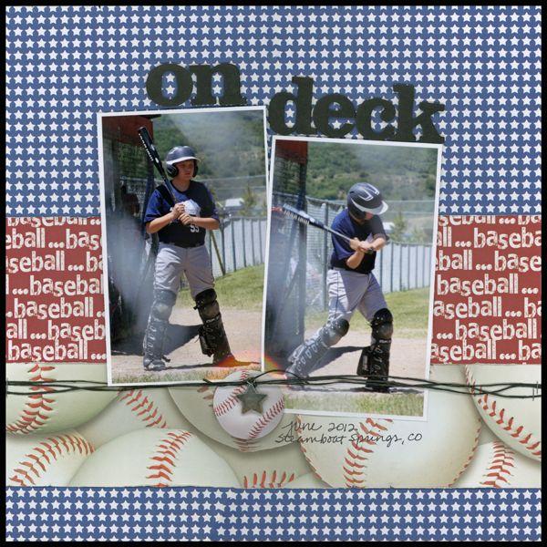 on deck (baseball) - Scrapbook.com