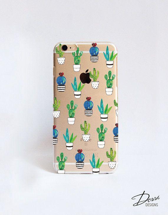 Transparante Cactus mobiele telefoon geval ontwerp voor iPhone, Samsung, Sony, HTC, Nokia, LG en BlackBerry gevallen
