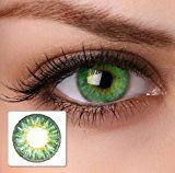 "Eye Effect farbige Kontaktlinsen ""cool green"" 2x grüne Kontaktlinsen ohne Stärke + gratis Kontaktlinsenbehälter"