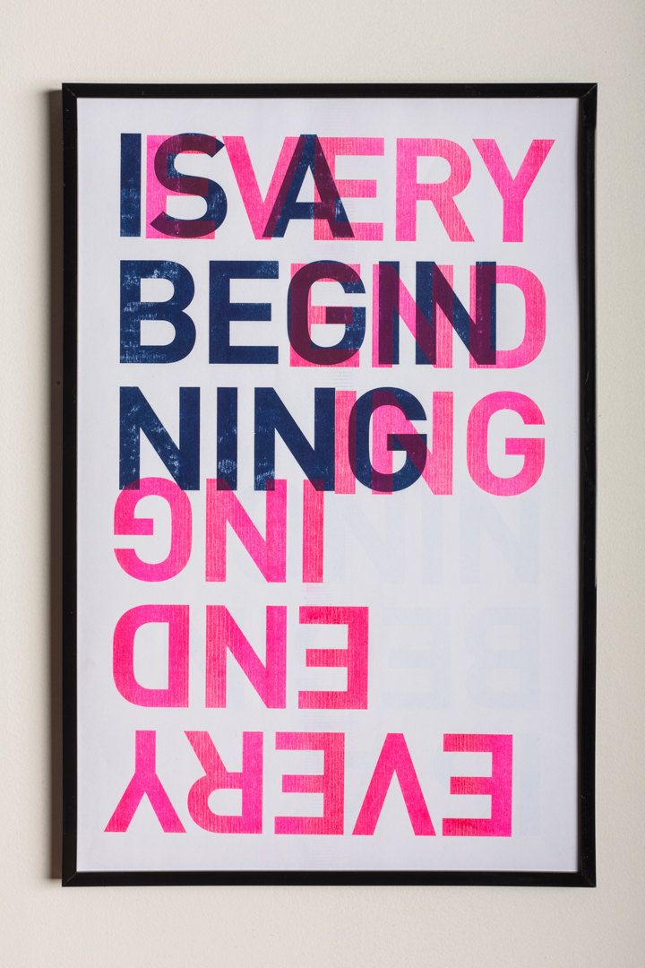 Every Ending is a Beginning · 2-color Risograph Poster by hartelmedia on Etsy