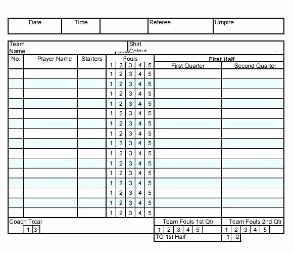 Football Stats Sheet Excel Template New 15 Stat Sheet For Basketball Excel Templates Project Management Templates Templates