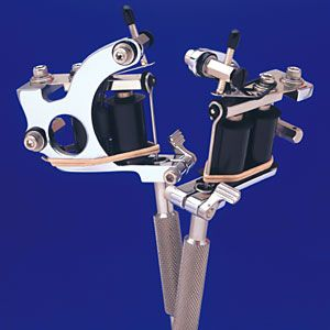 Spaulding Supreme Quick Change Tattoo Machine with 8-Wrap Coils