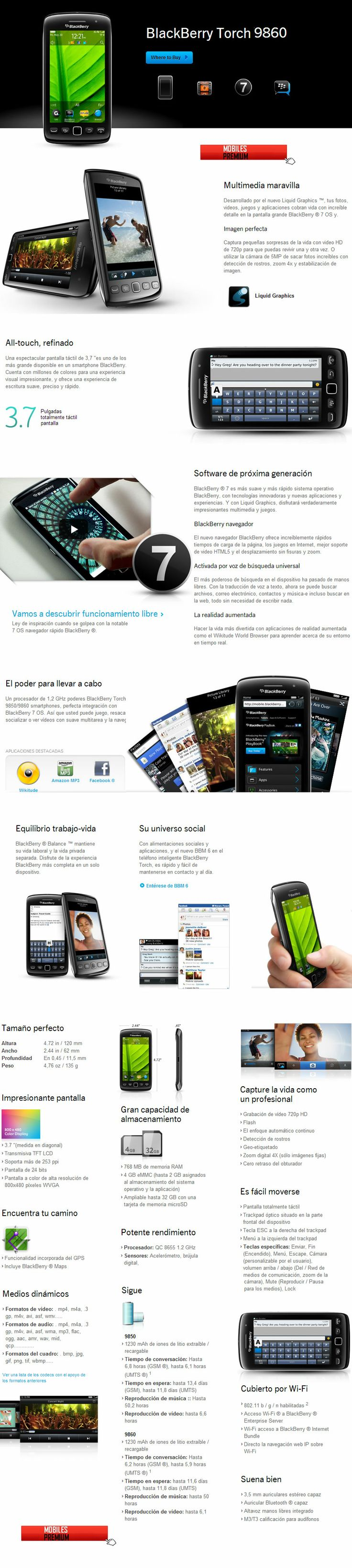 Comprar celular blackberry torch 9860 | venta de blackberry torch 9860 Argentina