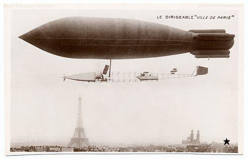 Lighter Than Air: The 'Ville de Paris' (1906) by postaletrice, via Flickr.