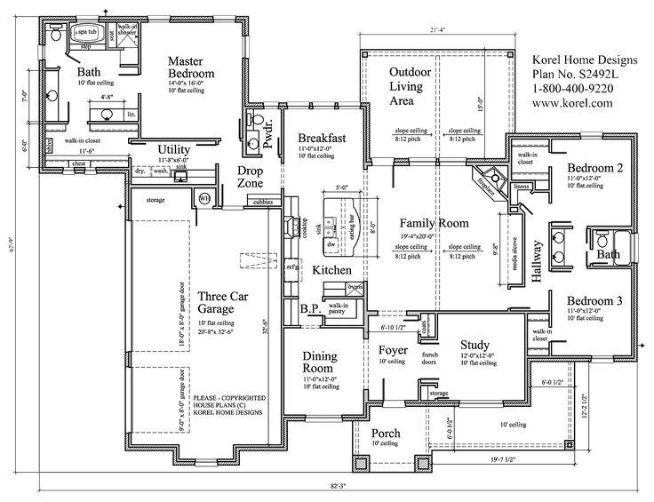 151 best House Plans images on Pinterest | Architecture, Dreams ...