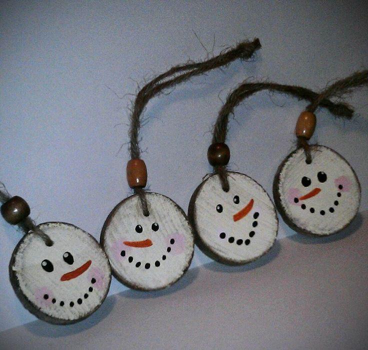 Cute snowmen faces