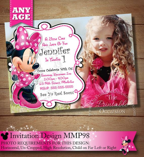 HUGE SELECTION Minnie Mouse Birthday by ThePrintableOccasion, $16.00