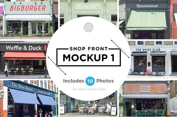 Shop facade mockups by It's me simon on @Graphicsauthor