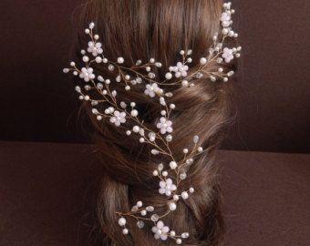 Bridal hair comb Wedding hair comb Bridal headpiece by KiCrown