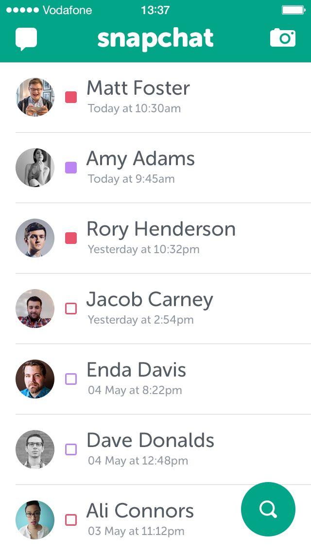 Snapchat chats