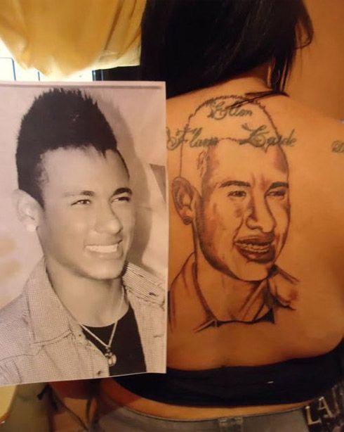 Neymar vira tatuagem fail nas costas de fã