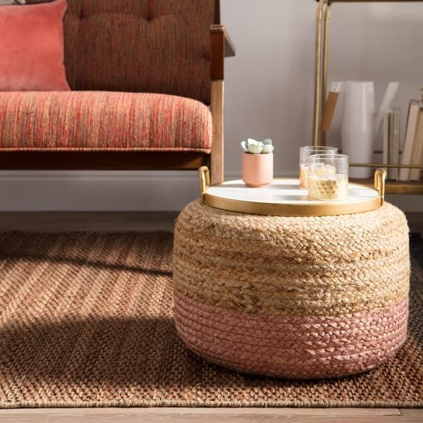 Overstock Com Online Shopping Bedding Furniture Electronics Jewelry Clothing More In 2020 Natural Jute Rug Pouf Ottoman Pouf