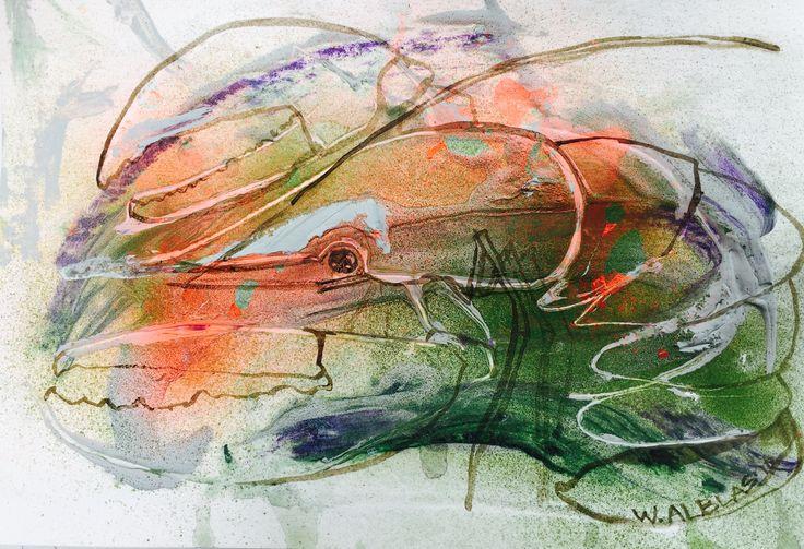 Lobster art kreeft kunst