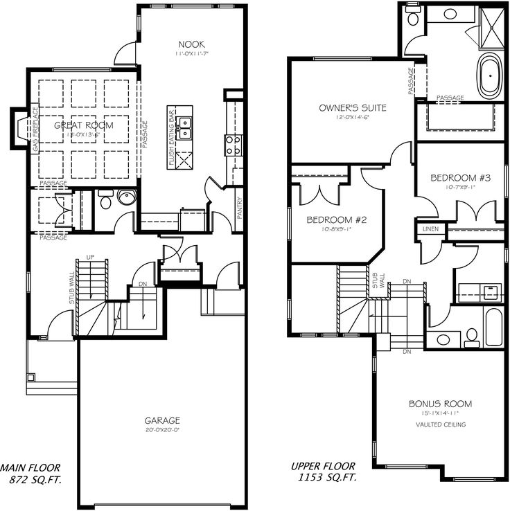The McKenna floor plan from Pacesetter Homes