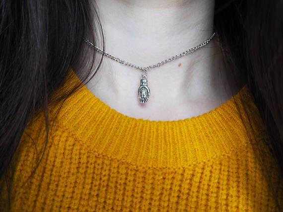 Buddha Charm Thin Chain Choker. Shop here: https://www.etsy.com/uk/shop/DontChoke #choker #necklace #buddha #chain #jewellery #jewelry #style #fashion #stylish #hand #boho #tibetan #trend #handmade #silver