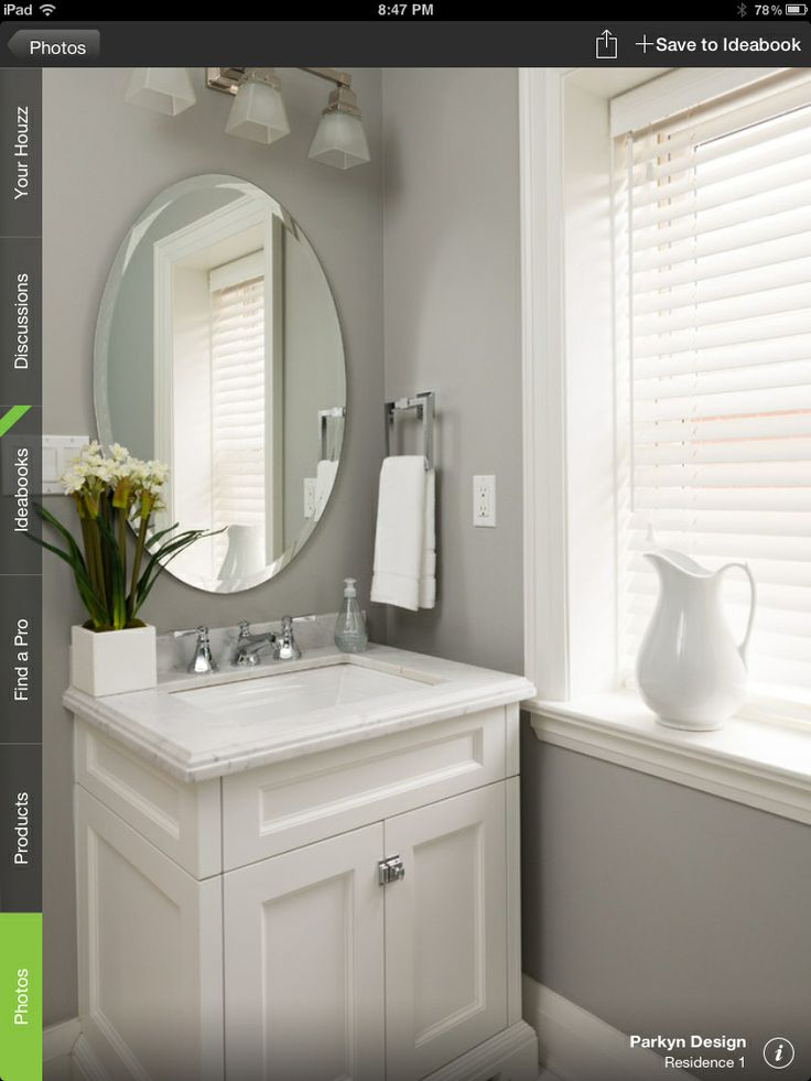 Photographic Gallery Home Sweet Home transitional Powder Room Toronto Parkyn Design paint Farrow and Ball lamp room grey