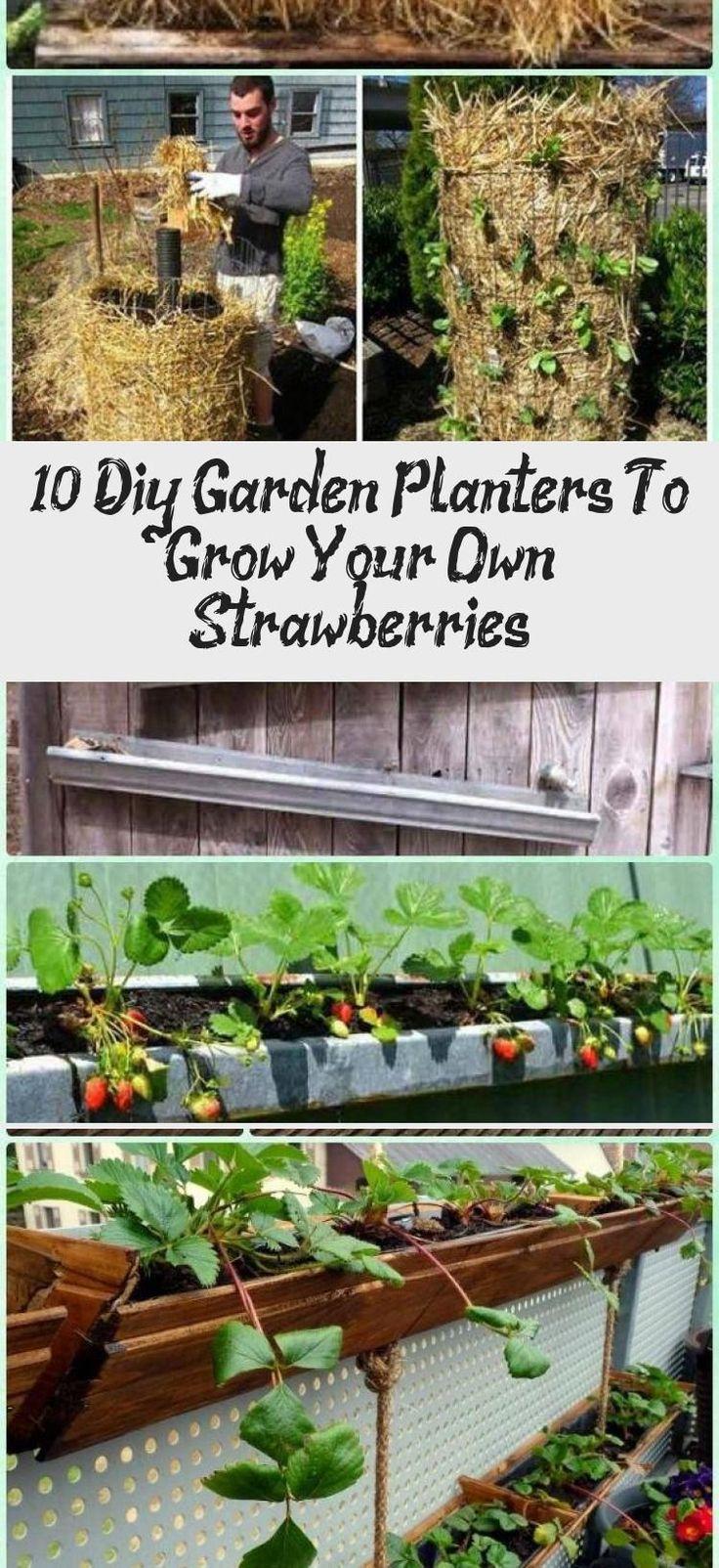 diy strawberry planter wood