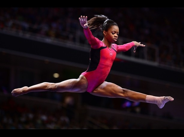 """Gabby Douglas, """"the flying squirrel,"""" is the first African-American gymnast to win the Olympic all-around. (Image credit: Ronald Martinez/Getty Images): Flying Squirrel, Gabby Douglas, African American Gymnast, Image Credit, Olympic All Around, Gabbydouglas, Olympics 2012"""