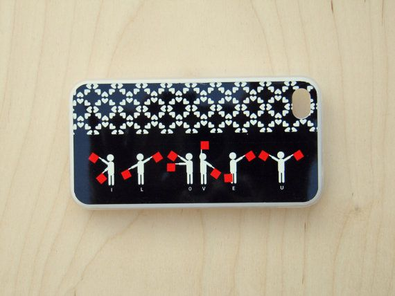 Case for iPhone 4 / iPhone 4S Semaphore signs I by TamTamPatterns, $22.00