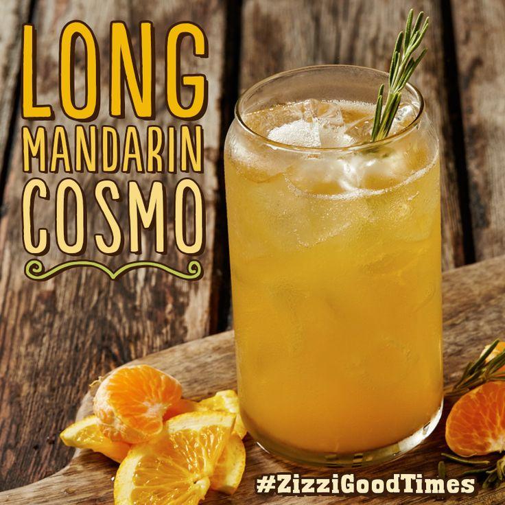 Vodka, Cointreau, sparkling mandarin & orange, freshly squeezed orange with fresh rosemary & an orange slice. #ZizziGoodTimes