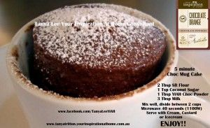 5 Minute Chocolate Mug Cake .. Looks like another great recipe to try and so quick! Thanks to Tanya Tritton for the recipe.