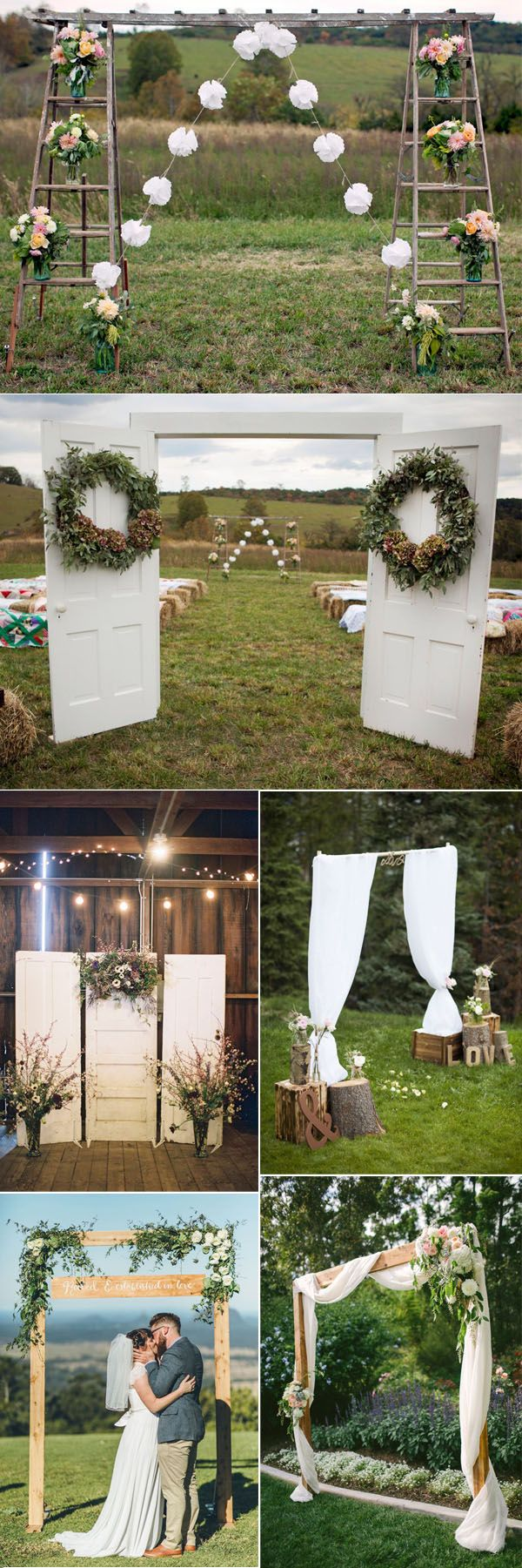 simple but stylish DIY wood wedding altar ideas
