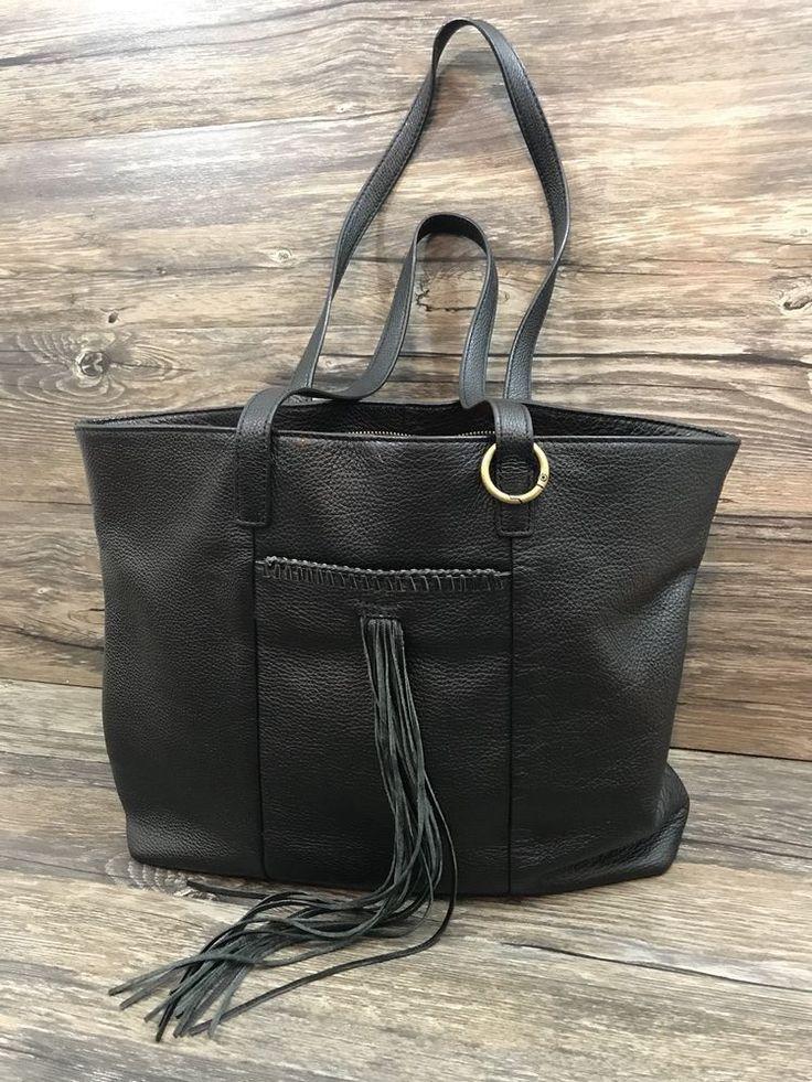 Lucky Brand Purse Hobo Leather Black Fringe Medium 71G  | eBay