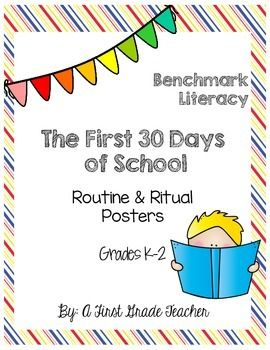 This purchase has premade anchor charts as well as templates to help guide you through the First 30 days of school.  A perfect companion to help you and your students start off the school year the right away!Please ask any questions prior to purchasing!