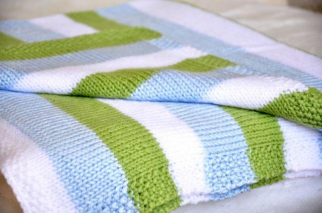 striped stockinette baby blanket