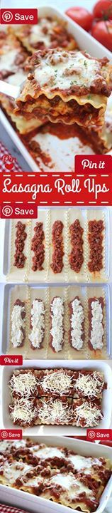 Lasagna Roll Ups - Ingredients Meat 1 lb Ground beef Produce 2 tsp Basil 1 tsp Garlic  Onion medium 1 tsp Oregano 1 tbsp Parsley Dried Refrigerated 1 Egg Condiments 34 oz Spaghetti sauce jarred Pasta & Grains 12 Lasagna noodles cooked Dairy 2 cup Mozzarella cheese 1  cup Parmesan cheese 15 oz Ricotta cheese #delicious #diy #Easy #food #love #recipe #tutorial #yummy Make sure to follow cause we post alot of food recipes and DIY  we post Food and drinks  gifts animals and pets and sometimes…