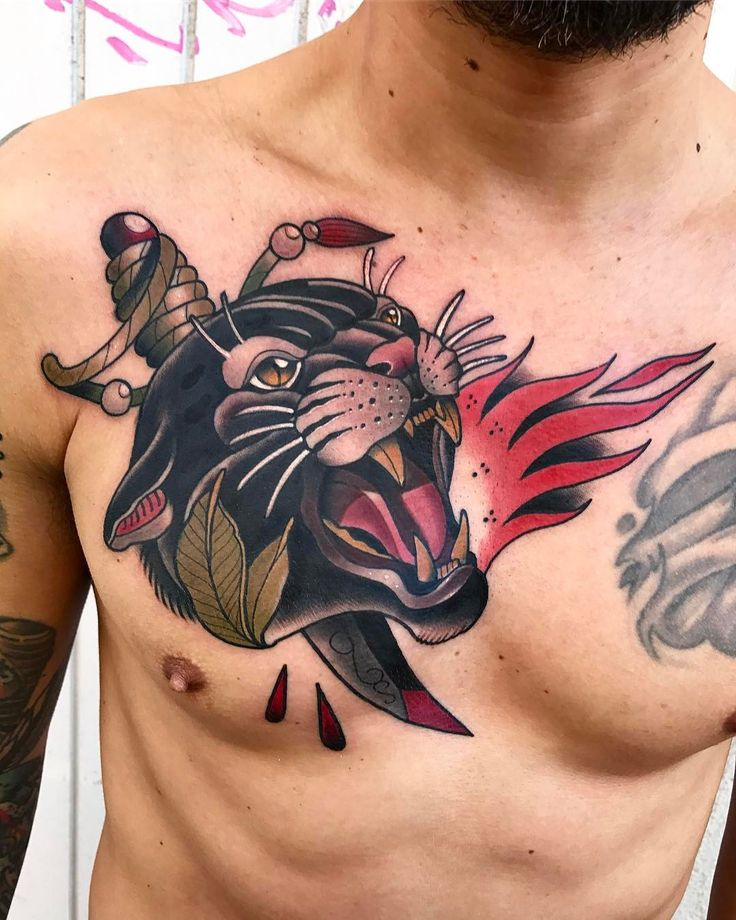 1327 Best Chest Tattoos Images On Pinterest
