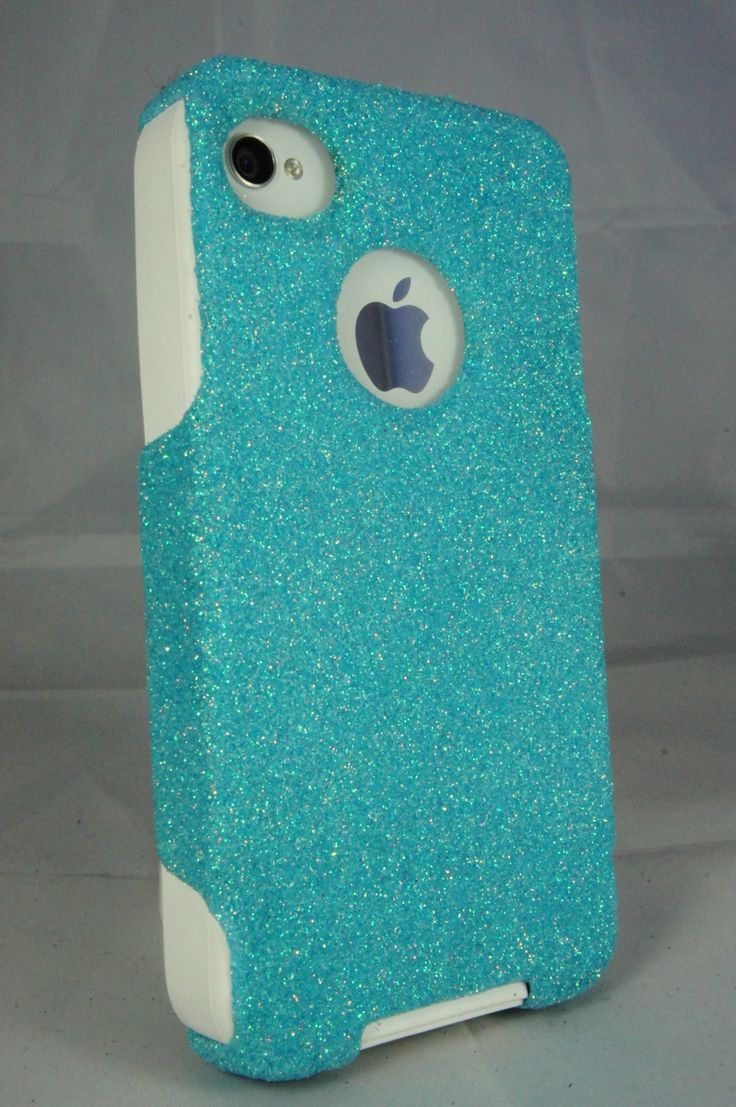 iphone 4 otterbox | ... case Frost Blue Glitter White Silicone Case for iPhone 4S & iPhone 4