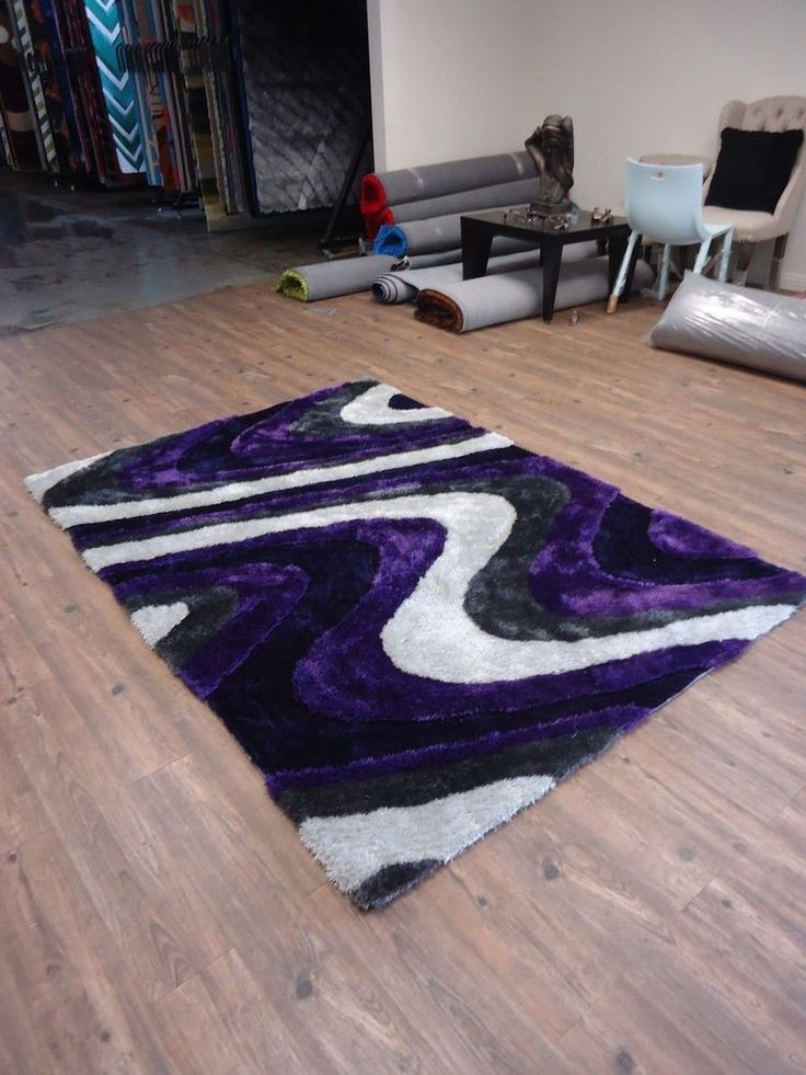 gray purple dimensional pattern handmade shag area rug w matching runner sale