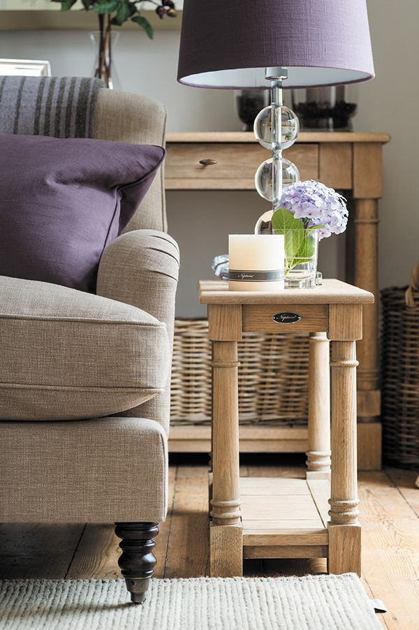 Edinburgh side table and Olivia sofa #sofa #interiors #lamp #neptune www.neptune.com