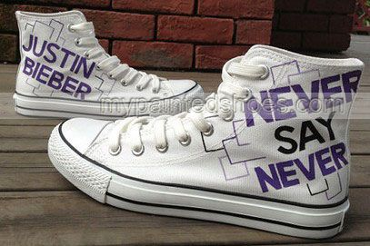 2013 Justin Bieber Shoes High-top Painted Canvas Shoes,High-top Painted Canvas Shoes