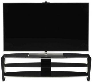 Alphason Francium Black TV Unit - FRN1400-3BLK-BK