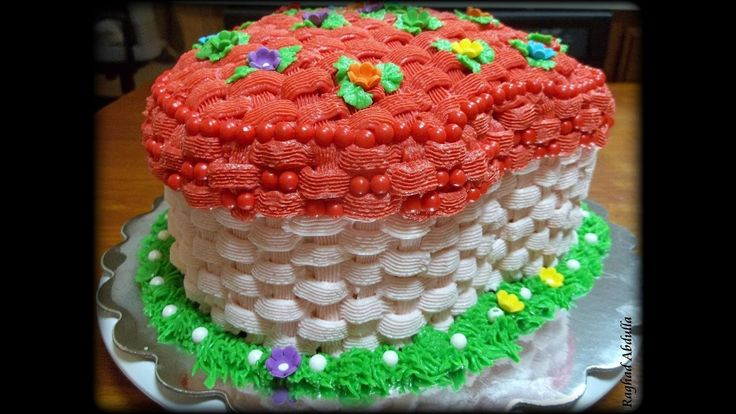 Heart Basket Cake
